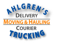 Ahlgren's Trucking delivery, moving, hauling and couier